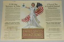 1937 United States Savings Bonds advertisement, color art, US Government