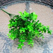 7-Branches Artificial Plastic Eucalyptus Plant Flowers Lucky Leaf Decor @Keku