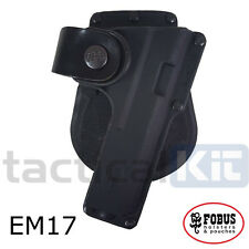 New Fobus Glock 17 Tactical Light Laser Bearing Paddle EM17 Holster UK Seller