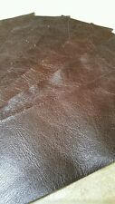 "Brown OLD ENGLISH 9"" × 3"" Top Quality Leather Ritagli si ottiene 5 PEZZI 1.1 mmthick"
