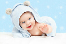 Cute Baby Poster Smiling New Born Kid Infant Child love Wall Decor