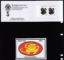 Australia 2016 SOUTHPEX Year of the Monkey Pair Unoff. Booklets  - UB14-16a/b