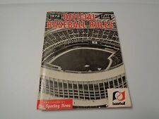 Official Baseball Rules 1972 Edition - Published by The Sporting News
