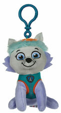 "NEW OFFICIAL 4"" PAW PATROL EVEREST PUP PLUSH SOFT TOY BAG CLIP NICKELODEON DOGS"