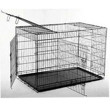 "New BestPet 42"" 3 Doors Folding Dog Crate Cage Kennel Metal Pan NO DIVIDER"