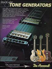 The Guild DeArmond Jetstar Bass Starfire M75T Guitar ad 8 x 11 advertisement
