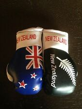 NZ / NEW ZEALAND / ALL BLACK FLAG Mini Boxing Gloves Ornament BRAND NEW