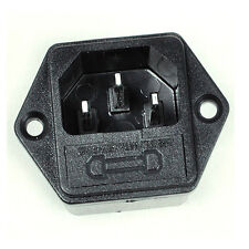 AC Inlet Power socket 3 Pole With 5*20mm Fuse Holder