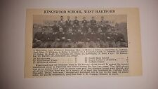 Kingswood School West Hartford  Connecticut 1927 Football Team Picture