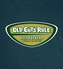 """OLD GUYS RULE """" LIVING LEGEND """" A LEGEND IN MY OWN MIND BEACH T-SHIRT SIZE M"""