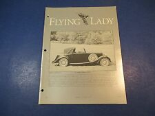The Flying Lady Rolls-Royce, Magazine Sept/Oct 1994,1934 20/25, H.J. Mulliner