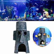 Hot Aquarium Landscaping Decoration SpongeBob House Aquatic Fish Tank OrnamentTO