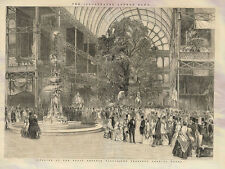 Interior Of The Great Exhibition Crystal Palace 1851 Photo Print A4