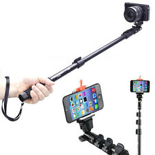 Extendable Handheld Tripod Monopod Adapter Selfie Stick for Phone GoPro Camera