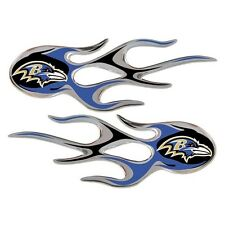 Baltimore Ravens Micro Flames Auto Emblem Car Decal Set of 2 Licensed NFL New