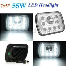 7x5'' 55W LED Headlight Hi/Lo Sealed Beam W/ DRL H4 Headlamp For Jeep/Wrangler