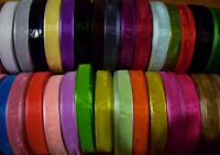 Woven Edge Sheer Organza Ribbon 3mm 6mm 10mm 19mm 25mm 38mm All Colours Charity