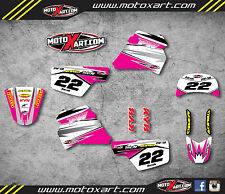 Yamaha PW 50 pee wee- All years PINK SHOCKWAVE decals/stickers Custom Graphics