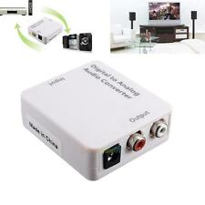 Optical Coaxial Toslink Digital to Analog Audio Converter Adapter RCA L/R DC 5V