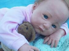 "Reborn Baby Kimberly by Sebilla Bos 20"" Doll Baby Girl Doll Blue Eyes OOAK Doll"