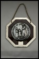 † OUR LADY of LA SALETTE STERLING SILVER HOLY MEDAL by RUFFONY FRAMED FRANCE †