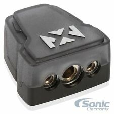 NVX XBTU Positive/Negative Battery Terminal w/1/0 AWG In & Two 4 AWG Outputs