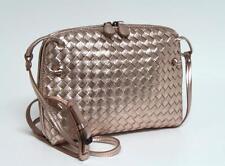Bottega Veneta Rose Gold Grosgrain Leather Pillow Messenger Bag BRAND NEW