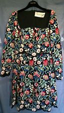 NWT Valentino Couture Lace Black Long Sleeve Floral Embroidery Lace Dress 42
