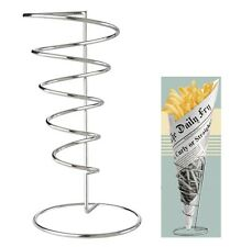 Eddingtons Retro Stainless Steel Chip Fries Cone Basket Set of 2 - 793020