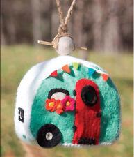 Wild Woolies Retro Teardrop Camper Bird House Fair Trade Handmade Felt Wool