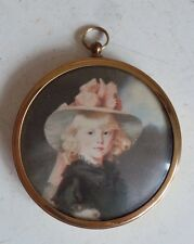 Wall Mount Brass Picture Frame Convex Top Princess Sofia Miniature Peter Bates