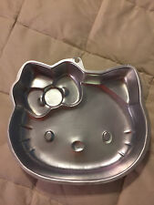 WILTON SILVER METAL HELLO KITTY CAKE BAKING MOLD PAN BAKEWARE