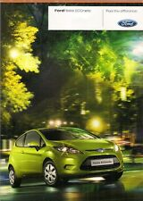 Ford Fiesta Econetic 1.6 TDCi 2009 UK Market Foldout Sales Brochure