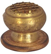 Small  Brass Charcoal Screen Incense Charcoal Cone Resin Burner FREE SHIPPING !!