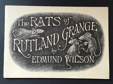 Edmund Wilson/Edward Gorey *The Rats of Rutland Grange* Ltd Edition