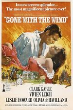 "Vintage Gone With The Wind Movie   Fabric poster 20""x 13""  Decor 03"