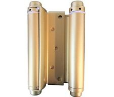 Box of 2 6'' Double Acting Spring Hinge Steel Base Brass Finish by Ultra #35597