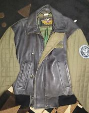 VINTAGE MENS HARLEY DAVIDSON XTRA LARGE LEATHER JACKET NICE PREOWNED CONDITION