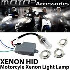 35W Motorcycle HID Headlight Kit H6M H4 BA20D Bi-Xenon Hi/Lo Light Bulb Set