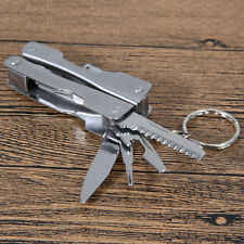 Portable 9 In 1 Stainless Steel Multi Tool Plier Outdoor Pocket Mini Camping Kit
