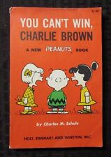 1967 YOU CAN'T WIN CHARLIE BROWN by Charles M Schulz SC VG+ 5th Holt Reinhart