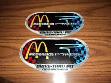 Lot of 2 McDONALDS POWERADE NASCAR racing contingency decals stickers sprint cup