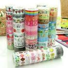 lot/10 rolls 1.5cm×10M paper Sticky Adhesive Sticker Decor Washi Tapes NEW WL
