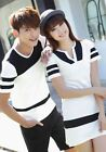 short sleeves matching couple outfits clothes men t shirt women dress for lovers