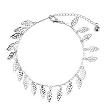 Women Sexy Silver Ankle Chain Hollow Leaves Anklet Bracelet Foot Jewelry Gift
