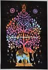 Indian Elephant Tapestry Psychedelic Mandala Art Hippie Wall Hanging Beach Throw