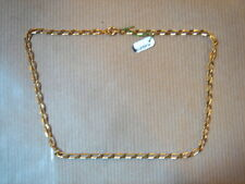 CHAINE PLAQUE OR MAILLE MEDIUM LONG 40 CM 7 G VINTAGE NEUF/NEW GOLD PLATED CHAIN