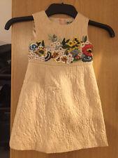 Dolce & gabbana floral brodé jacquard beige robe 3 & 4 ans rrp £ 900