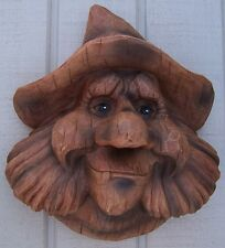 Bird House Woodsman Old Man Billy NEW wall fence or tree mount polyresin rustic