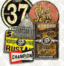Anni'30 HOT ROD VINTAGE 37 adesivo Pack da VOODOO STREET ™, Custom CAR, Rat Rod